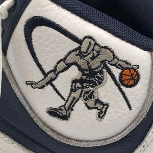 AND1 Shoes - AND1 Men's white & Navy high top basketball shoes